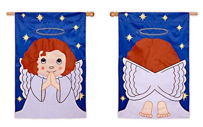Blessed Angel Applique Garden Flag,  #167834fb