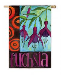 Fuchsia Flower House Flag, # 131657