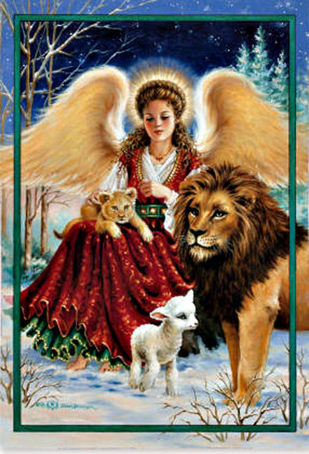 Angel, Lion, and Lamb House Flag, #132108