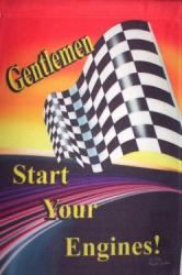 Gentlemen Start Your Engine House Flag, #9885FL