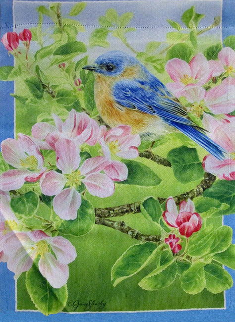 Flower and Bird Garden Flag,  #z142s058