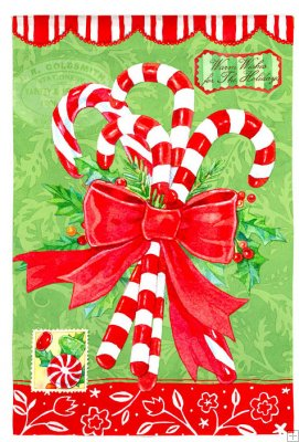 Sparkeling Candy Christmas Garden Flag,  #14s1399bl