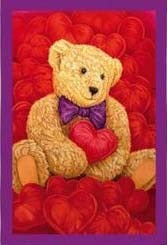 Valentine's Bear House Flag, #131914