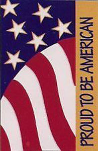 Proud To Be An American Applique House Flag,  #ME1R09