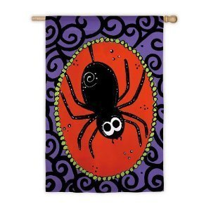 Halloween Spider House Flag, #131832