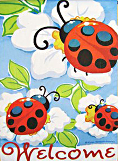 Lady Bug Trio House Flag, #Z26098