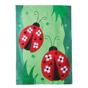 Daisy Ladies Applique House Flag, #120011