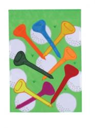 Golf Balls and Tees Garden Flag,  #130001