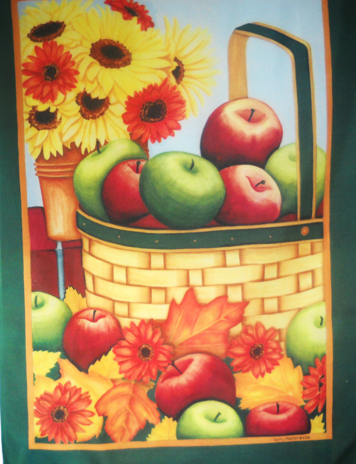Apples & Mums House Flag, #9409FL