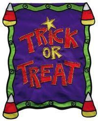 Trick or Treat House Flag, #9733fl