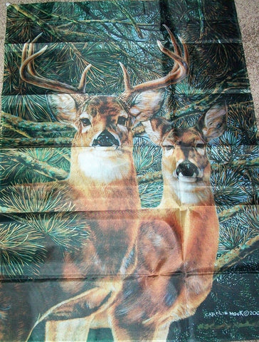 Two Deer in the Wood House Flag, #Z23800