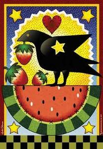 Watermelon and Crow House Flag, #JFL040L