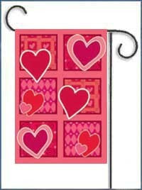 Valentine's Day Patchwork House Flag, #15522