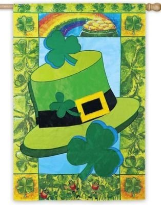 Luck O' the Irish Applique House Flag, #15371