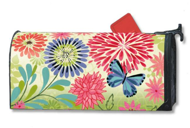 Flower Splash Standard Size Mailbox Cover, #02697