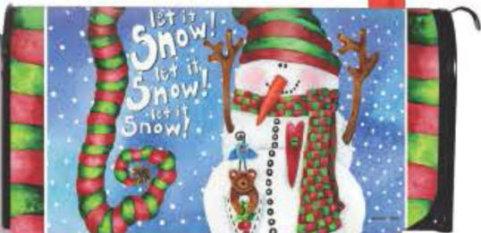Let It Snow Standard Size Mailbox Cover, #56476
