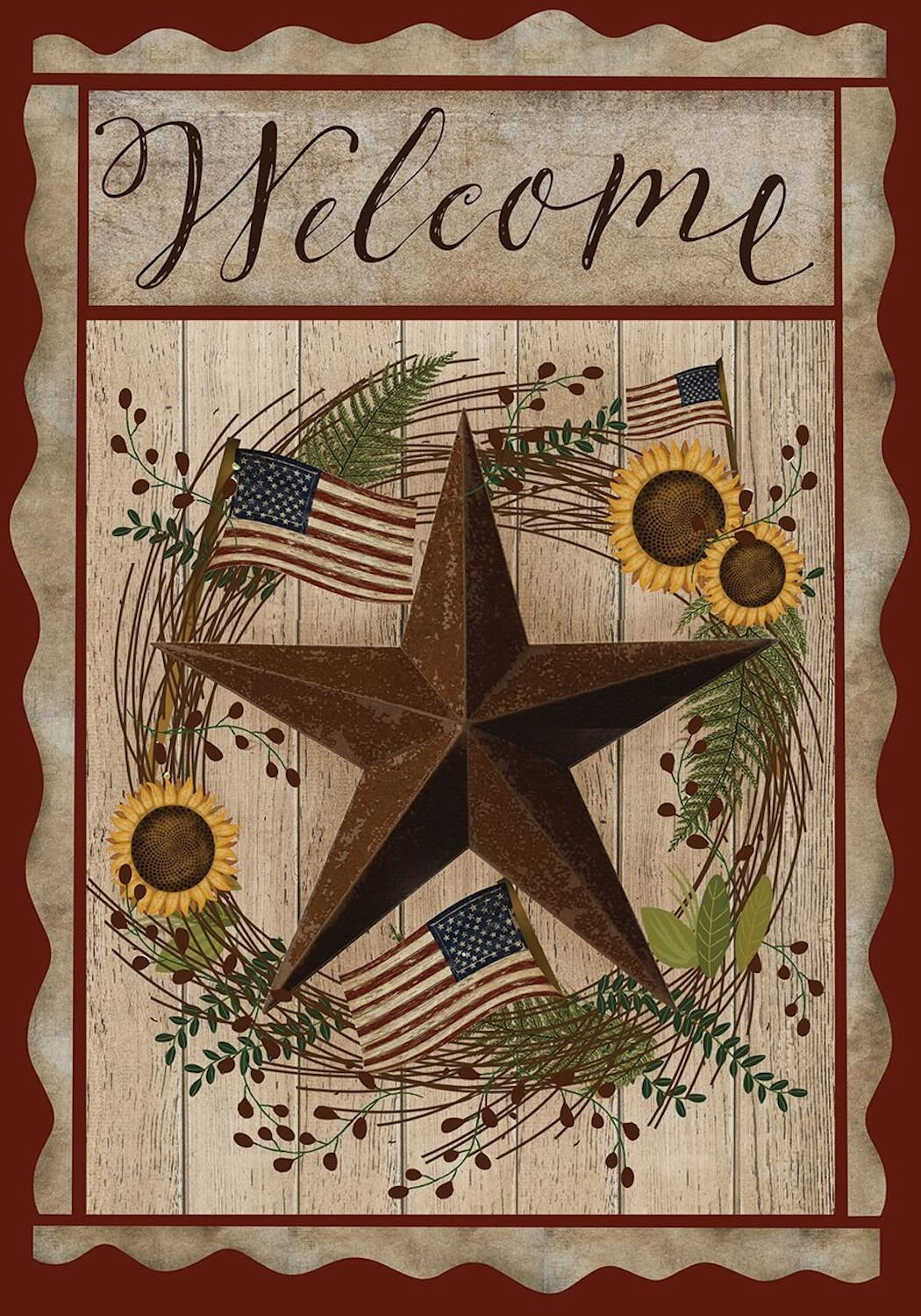 Autumn Welcome Barnstar Garden Flag, #G00498
