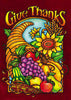 Stained Glass Give Thanks Garden Flag,  #9502fm