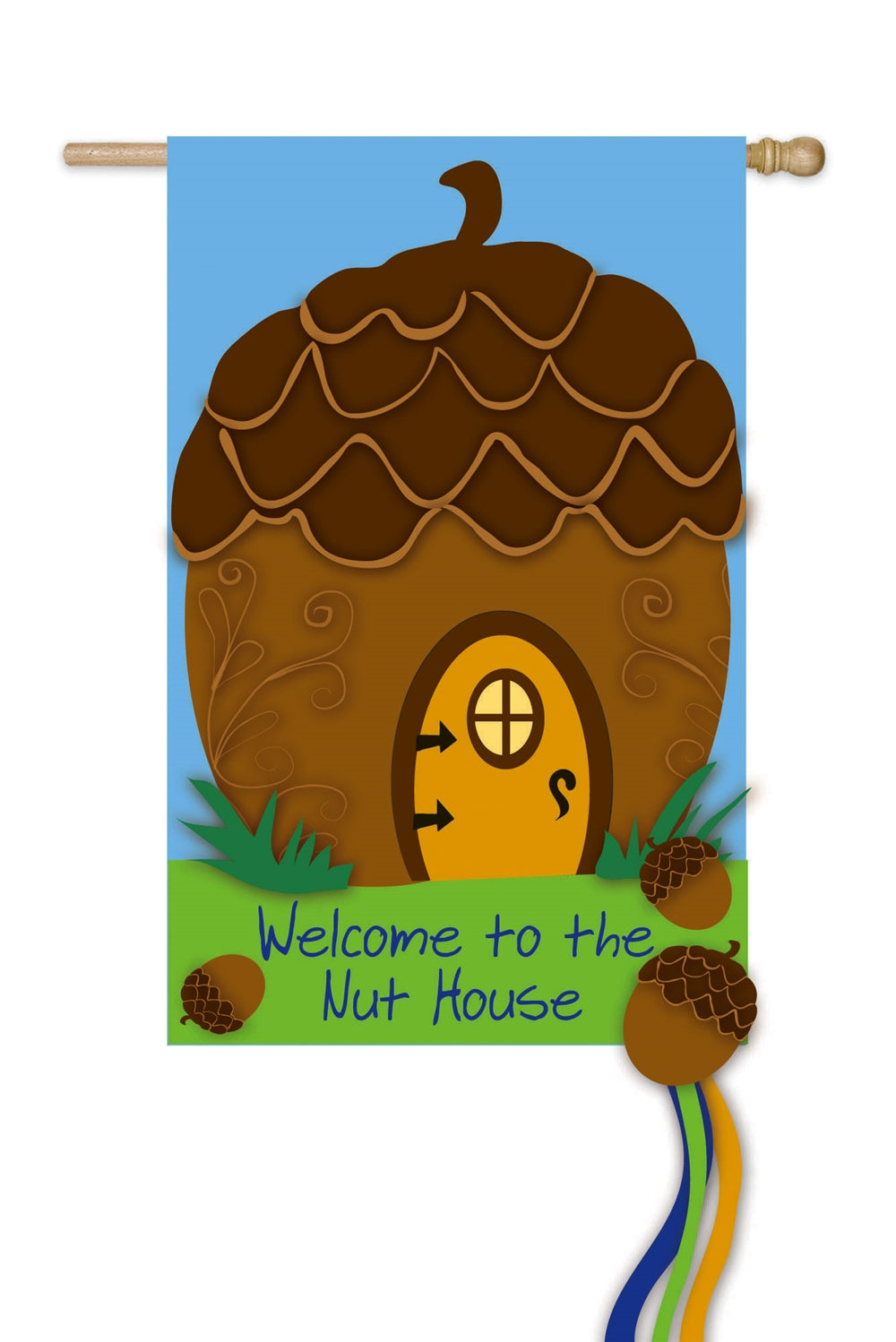 Nut House Welcome Applique Garden Flag,  #168085