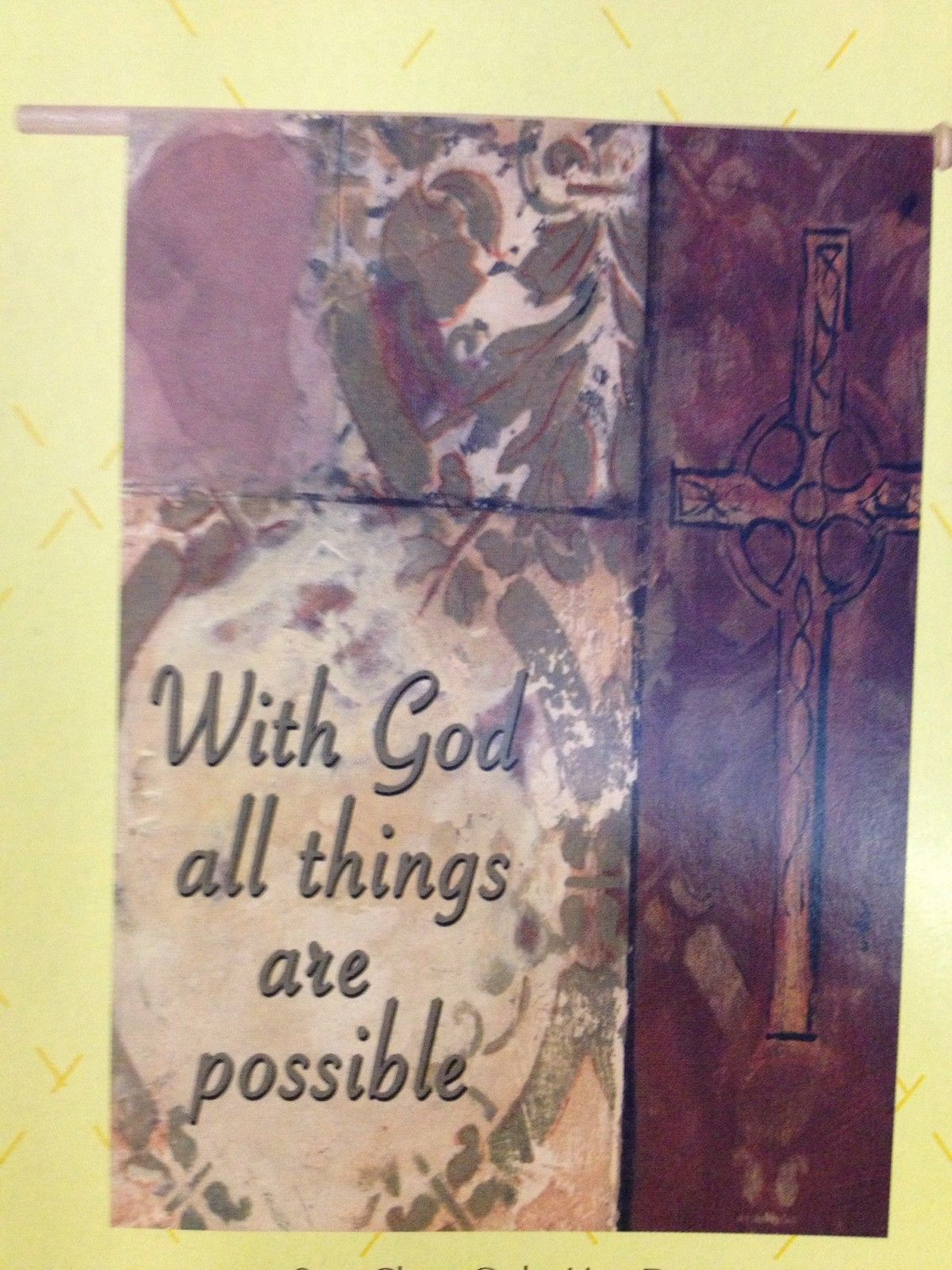 With God All Things Are Possible Garden Flag,  #c70042