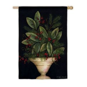Winter Berry Planter Garden Flag,  #141829