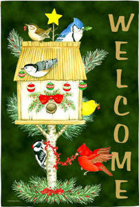 Welcome Holiday Birds Garden Flag,  #141398