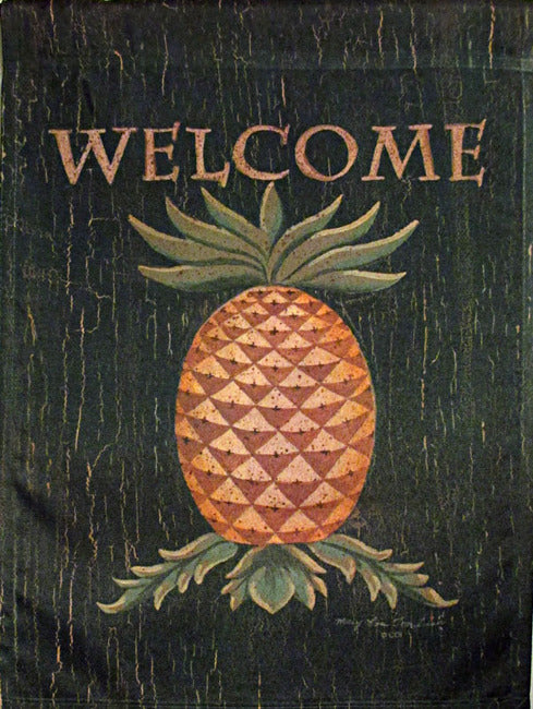 Pineapple Welcome Garden Flag, #9074FM