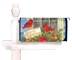Season's Greetings Christmas Standard Size Mailbox Cover, #56258
