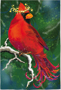 Cardinal with Wreath Garden Flag,  #14s2526bl