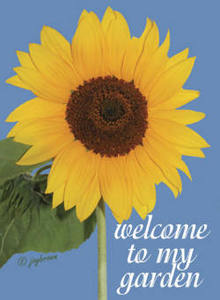 Welcome Sunflowers House Flag, #71374