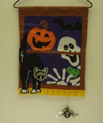 Halloween Window Garden Flag,  #16583