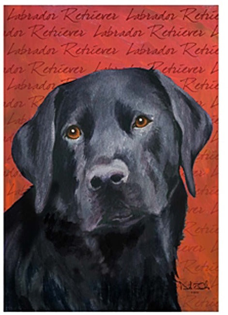 Black Labrador Retriever Garden Flag, #644676