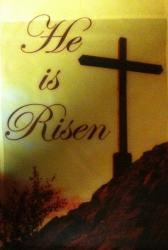 He is Risen Garden Flag,  #c70050