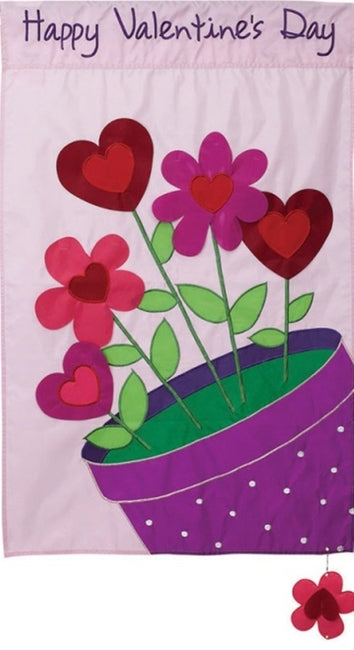 Love Blossoms Applique Garden Flag,  #168189