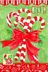 Holiday Candy Canes Garden Flag,  #141399