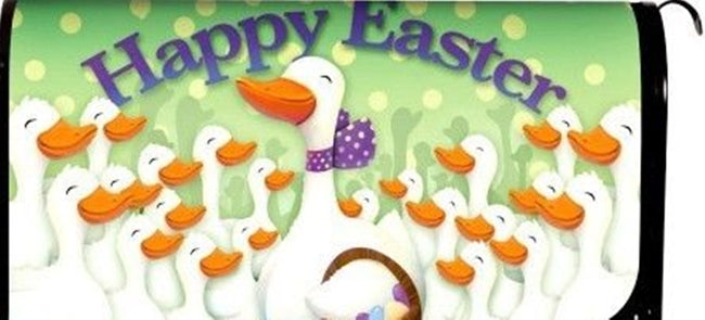Happy Easter Geese Standard Size Mailbox Cover, #56095