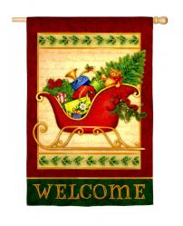 Holiday Sleigh Garden Flag,  #141403