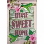 Home Sweet Home Hummingbirds House Flag, #131128B