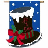 Let it Snow Top Hat House Flag,  158061BL