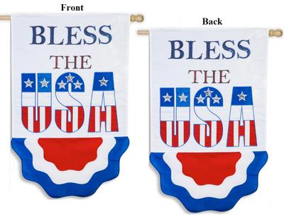 Bless The USA  Applique House Flag,  #158023