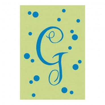 "Polka Dot Initial ""G"" House Flag, #15764"