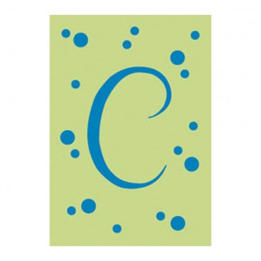 "Polka Dot Initial ""C"" House Flag, #15760"