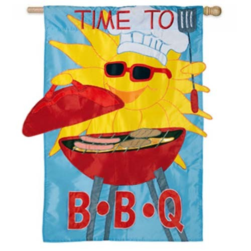 Time to BBQ House Flag,  #157598