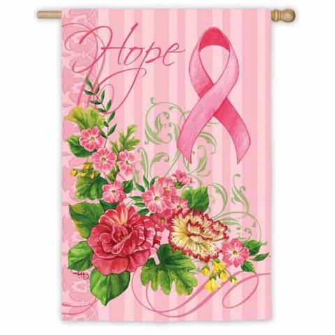 Hope Pink Ribbon House Flag,  # 13S2845