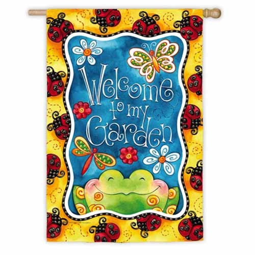 Welcome to My Garden House Flag,  #131S890
