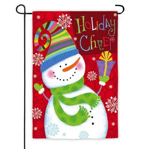 Holiday Cheer Snowman Garden Flag,  #14s2544gc