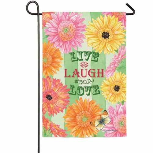 Gerber Inspiration Live Laugh Love Garden Flag,  #14s2844