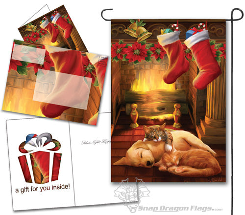 Christmas Pups and Kittens Garden Flag,  #14s3200gc