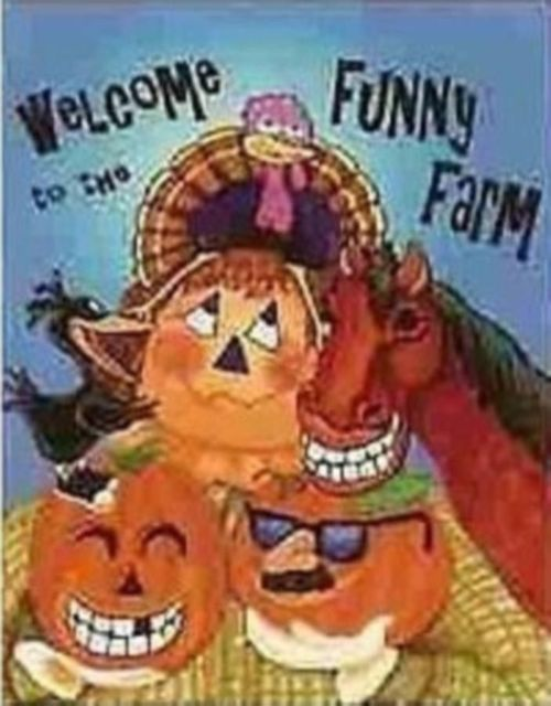 Fall Funny Farm House Flag,  #9488FL