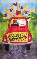 Just Married House Flag, #9945FL
